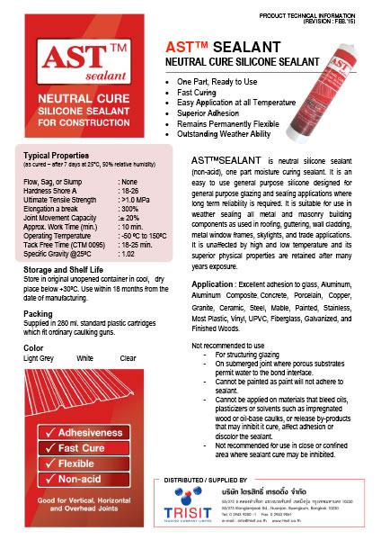 AST™ Sealant Technical Data